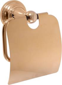 Slezák-Rav Držiak toaletného papiera s krytom, chróm Farba: Zlatá