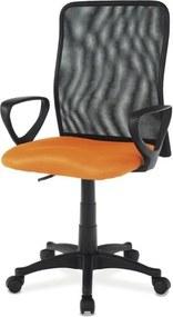 Sconto Kancelárska stolička FRESH oranžová/čierna