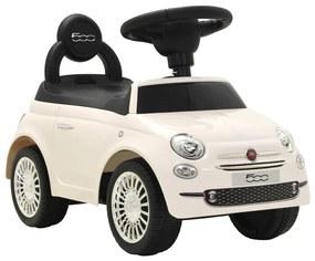 vidaXL Detské autíčko Fiat 500, biele