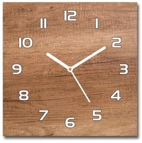 Sklenené hodiny štvorec Drevené pozadie pl_zsk_30x30_f_111507798