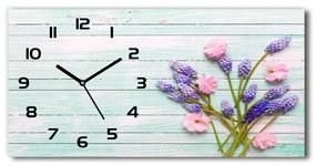 Sklenené hodiny na stenu Levanduľa na strome pl_zsp_60x30_f_159336288