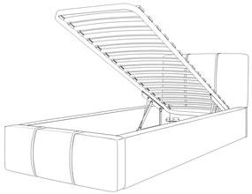 GM Čalúnená posteľ Gloria 90x200 - ružová