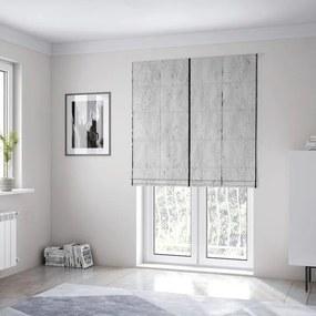 DomTextilu Krásna dekoratívna látková roleta imitujúca biele drevo 14781