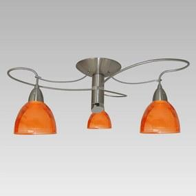 Stropné svietidlo PREZENT CARRAT oranžová / nikel 12039