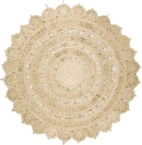 Masiv24 - Koberec Zira Jute Circle Rug 150x150cm 002 - svetlá prírodná