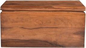 Bighome - MONTREAL Truhlica 80x40 cm, hnedá, palisander