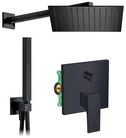 HG SET 8 Black - Sprchový systém pod omietku, Metropol, páková batéria- kompletná sada, čierna