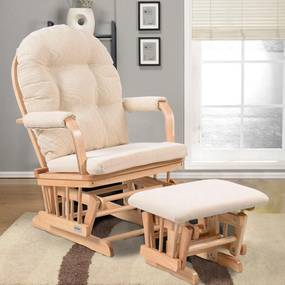 Komfortné relaxačné kreslo s taburetom Catini TREVISO sv.drevo
