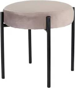 TORO Stolička TORO 36cm sivý zamat