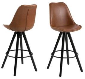 Sada 2 hnedých barových stoličiek Actona Damia