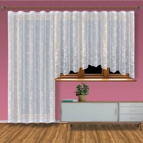 ERVI PLAS Hotová záclona 200 × 250 cm – Erika balkónový diel