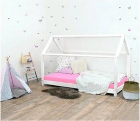 Biela detská posteľ bez bočníc zo smrekového dreva Benlemi Tery, 90 × 180 cm