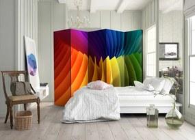 Paraván s námetom farebných dúhových vĺn
