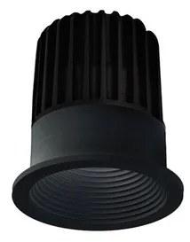 LED2 2111033 Zápustné LED svietidlo SPLASH, 7W, 525 lm, 3000K, IP54, 36°, D76xV82 mm, čierne