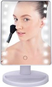 BEZDOTEKU Kozmetické make-up zrkadlo s led osvetlením bielě