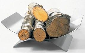 Kôš na drevo Lienbacher so soklom - čierny