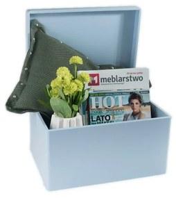 ČistéDrevo Drevenýý box bez úchytov 40cm x 30cm x 23cm - svetlo modrý