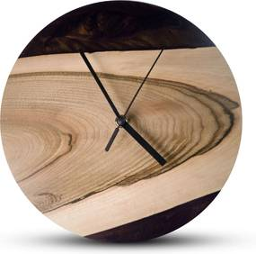 TIMMER wood decor Violet Breeze- Živicové drevené hodiny