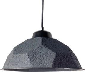 Čierne závesné svietidlo s tienidlom z recyklovaného papiera Design Twist Mosen