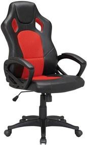 Kancelárska stolička RACING Červeno / čierna