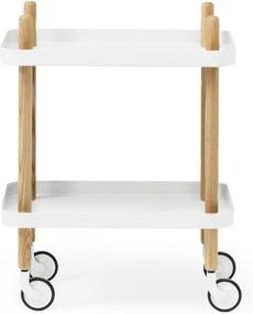normann COPENHAGEN Stolík na kolieskach White