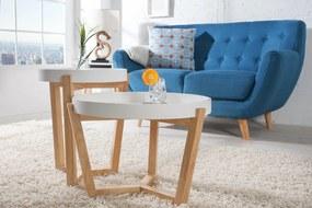 Nemecký výrobca Drevený konferenčný stolík Scandinavia - set 2 ks biely