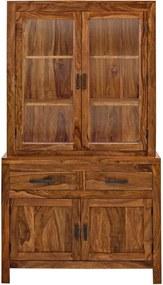 Vitrína z palisandrového dreva Massive Home Irma
