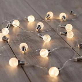 DecoKing Svetelná reťaz Guľôčky teplá biela, 20 LED