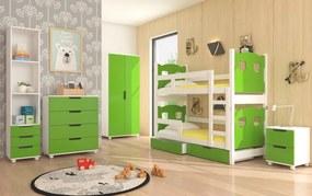Zelená zostava nábytku do detskej izby Aberdeen