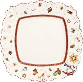 Biely hranatý plytký tanier 28,5 cm Toy's Delight