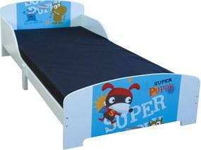 Homestyle4U Detská drevená posteľ Psík