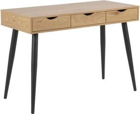 Actona Písací stôl Neptún drevo / čierny