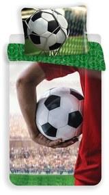 JERRY FABRICS Obliečky Futbal a futbalista Bavlna, 140/200, 70/90 cm