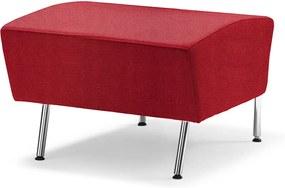 Rovný taburet Alex, 600 mm, tkanina Medley, červená