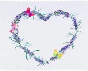 Goldea teflónový obrus levanduľový srdce - 36x50 cm 36 x 50 cm
