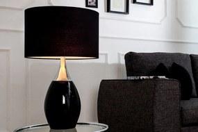 Stolná lampa Carla 60cm / čierna
