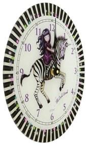 Santoro farebné nástenné hodiny Gorjuss The Dar Streak