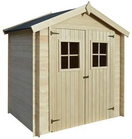 Záhradný drevený domček/dreváreň/kôlňa, 2x1,5 m, 19 mm