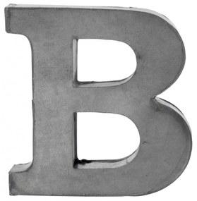 MADAM STOLTZ Plechové písmeno B, 5,5 cm