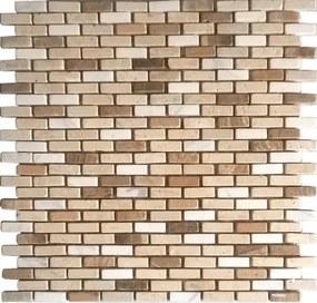 Kamenná mozaika Premium Mosaic Stone béžová 29x30 cm mat STMOS1030MIX1