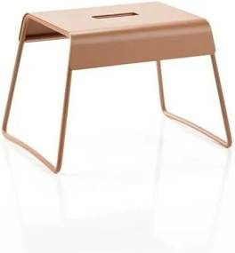 Jantárovooranžová oceľová stolička Zone A-Stool Amber