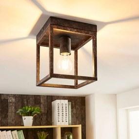 Rustikálne stropné svietidlo Emin kovový rám