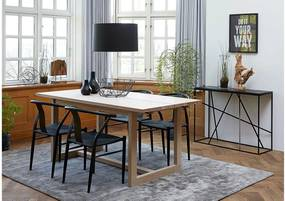 Jedálenský stôl Bily biely 170 cm