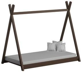 Detská posteľ Teepee 180x80 hnedá