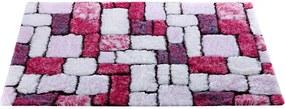 Blancheporte Kúpeľňová predložka, Mozaika purpurová 50x80cm