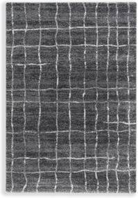 Astra - Golze koberce Kusový koberec Savona 193040 Grid Anthracite - 67x130 cm