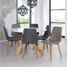 ZIJLSTRA 3LEG ROUND 120 stôl, Prevedenie nohy - dub natural