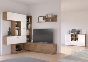 Moderná obývacia zostava Rain - biela / dub lancelot