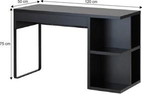 PC stôl, čierna, MARLOW