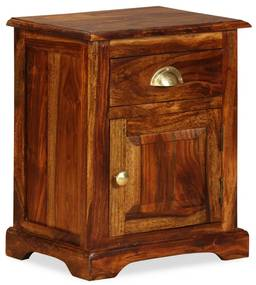 vidaXL Nočný stolík, 40x30x50 cm, masívne sheeshamové drevo